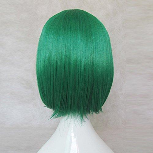 Macross F Ranka Deep Green Short Cosplay Wig + Free Wig Cap
