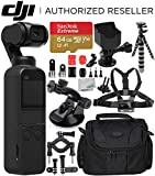 DJI Osmo Pocket Gimbal with Must-Have Action Accessory Bundle - Includes: SanDisk Extreme 64GB microSDXC Memory Card + Accessory Mount + Flexible Gripster Tripod + Suction Cup Mount + More