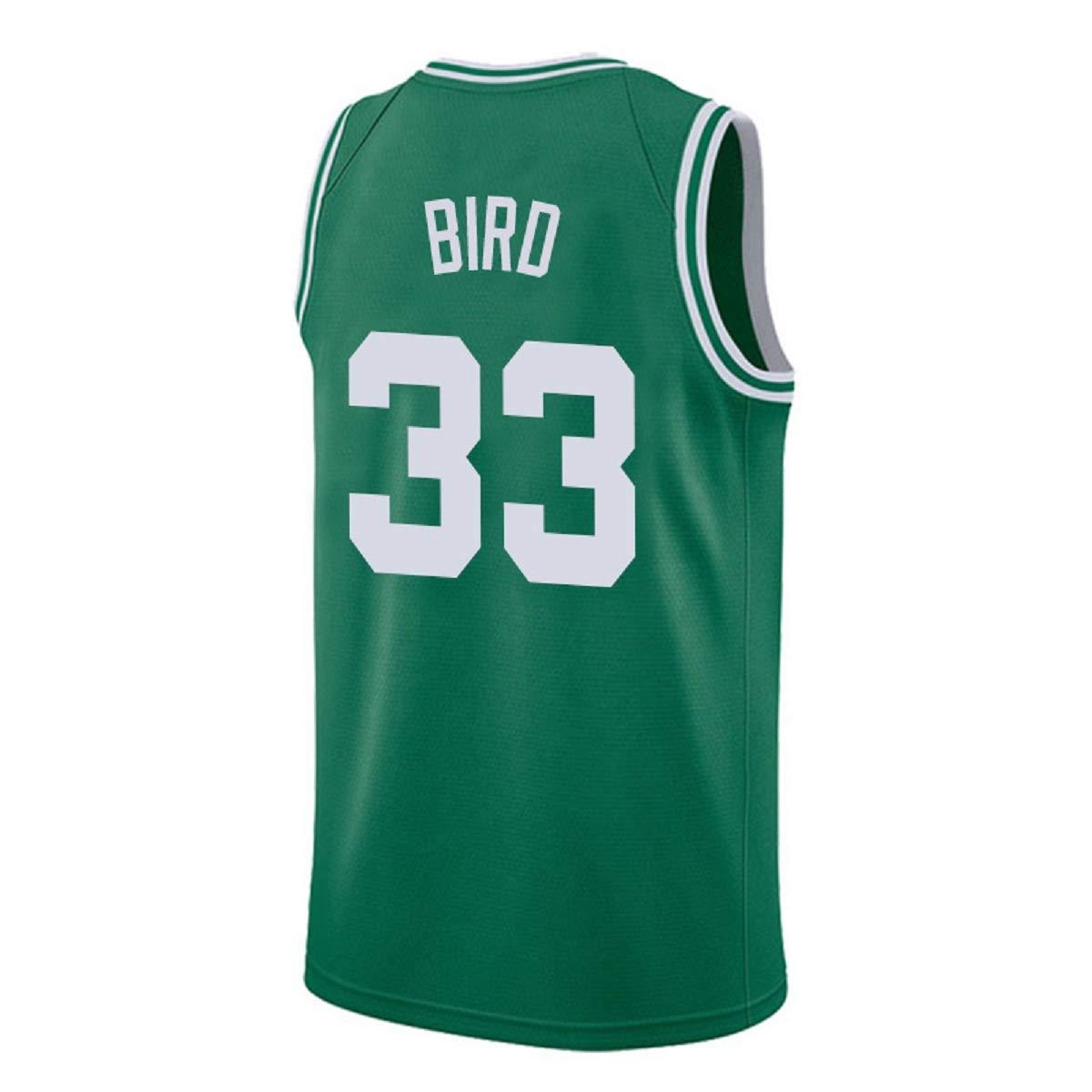 newest 027c0 a06b3 Youth Bird Jersey Boston 33 Kid's Basketball Jersey Larry Boy's Jerseys  Green and White(S-XL)