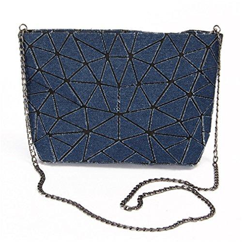 Blue Bucket Tote Handbag Women Bag B Crossbody Bag Ladies Bags Denim For Geometric Washed Women Shoulder Dark Rq7ZBw7x