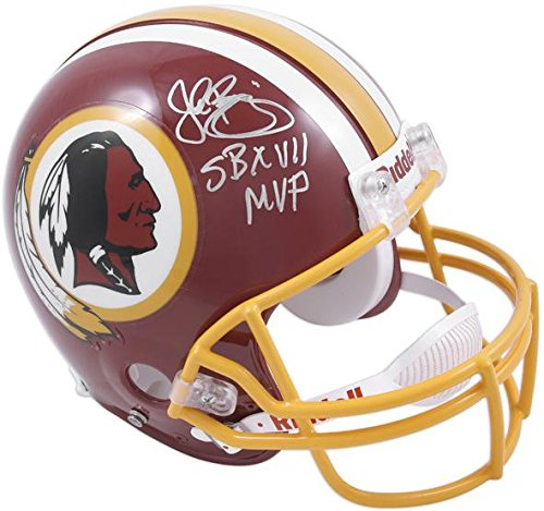 John Riggins Washington Redskins Autographed Riddell Pro-Line Authentic Helmet with SB XVII MVP Inscription - Fanatics Authentic Certified