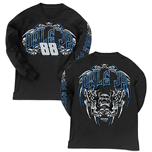 Dale Earnhardt Jr #88 NASCAR Long Sleeve Skull T-Shirt (3x-large)
