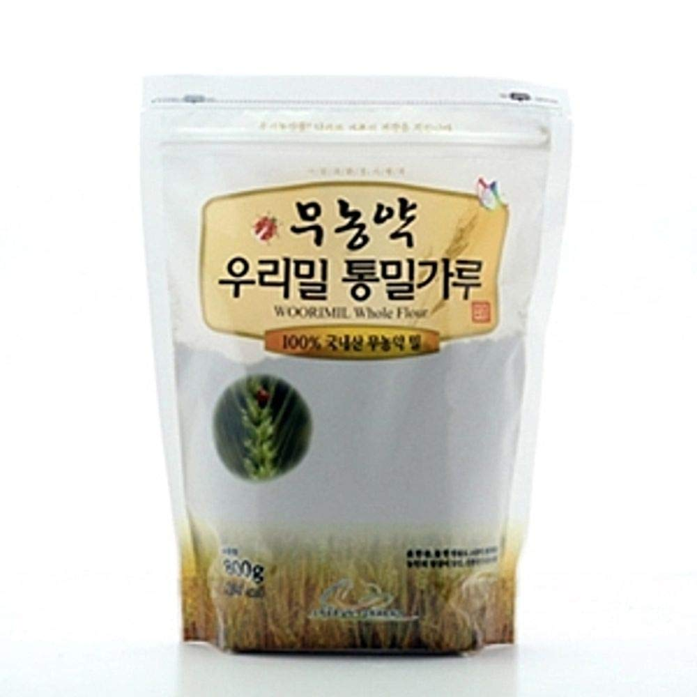 Whole Wheat Flour 800g, No Pesticides, South Korea by Dure