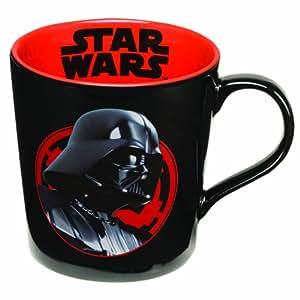 Vandor 12oz taza de cerámica, cerámica, Red/Black, 20,3 cm