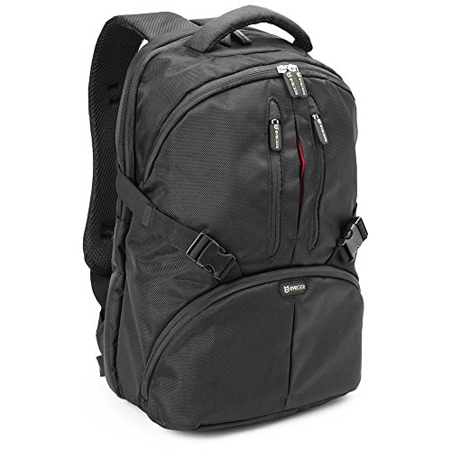 A35 Lcd (Evecase Convertible School / DSLR Camera Lens Backpack with Laptop Tablet Compartment and Rain cover - Black for Canon, Nikon, Sony, Fujifilm, Panasonic, Pentax, Samsung, Olympus and)