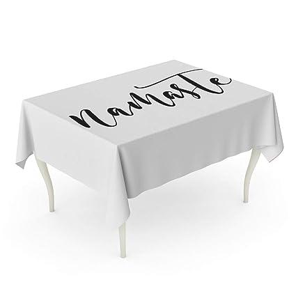 Amazon com: Tarolo Rectangle Tablecloth 60 x 90 Inch Yoga