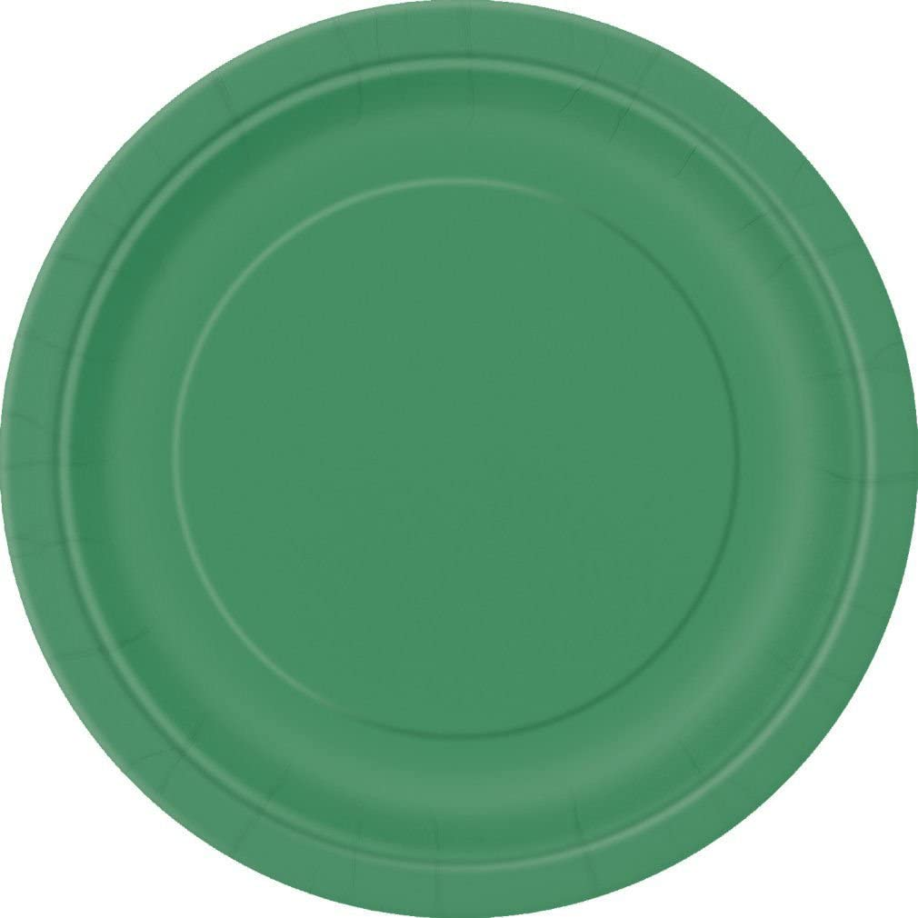 Emerald Green WG AWESOME VALUE BLING PLATES 2 Packs of 7 Round Paper Plates in a choice of 17 STUNNING COLOURS FREE UK POSTAGE