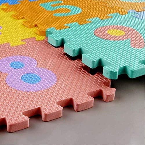 Color aleatorio Espuma EVA Alfabeto de alfombra de goma Tapetes de letras Actividad Puzzle Alfombras de juego Protecci/ón de piso W-top 36 PCS Alfabeto N/úmeros Suave Alfombrilla de juego para ni/ños