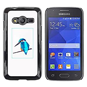 Paccase / SLIM PC / Aliminium Casa Carcasa Funda Case Cover para - Blue Bird - Samsung Galaxy Ace 4 G313 SM-G313F