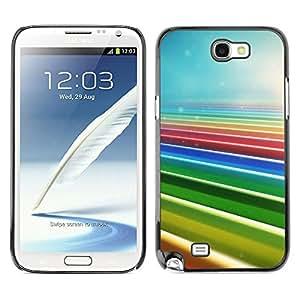 Caucho caso de Shell duro de la cubierta de accesorios de protección BY RAYDREAMMM - Samsung Note 2 N7100 - Colores del arco iris