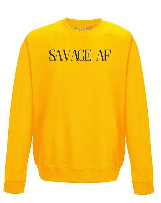 Brand88 Savage AF, Sudadera Adultos - Dorado/Negro M=102cm: Amazon.es: Ropa y accesorios