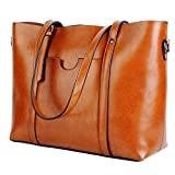 Best Leather Totes - Yaluxe Women's Vintage Style Soft Leather Work Tote Review