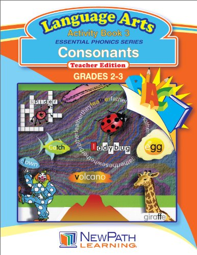 NewPath Learning Essential Phonics Series Consonants Reproducible Workbook, Grade 2-3