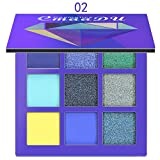 ARTIFUN 9 Colors Eyeshadow Palette, Shimmer and Matte Shades, Hypoallergenic, Paraben Free, Cruelty Free, Long Lasting Waterproof Colorful Eyeshadows Cosmetics