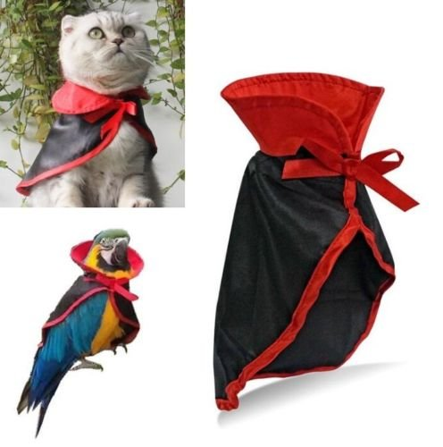 EatingBiting(R)Halloween Cat Dog Pet Parrot Vampire Cloak Christmas Festive Dress Up Costume