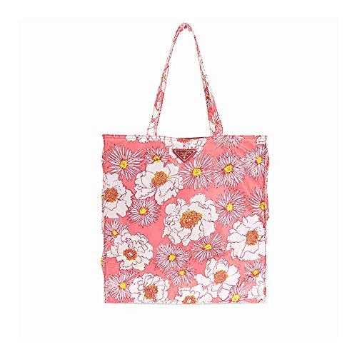 Prada Floral Nylon Tote - Rosa Dis - Prada Floral Bag