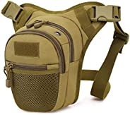BAIGIO Tactical Drop Leg Waist Bag - Military Thigh Hip Pack MOLLE Tools Bag Outdoor Cycling Utility Pouch