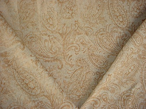 168H15 - Spruce Green / Sandstone Woven Floral Paisley Chenille Decorative Upholstery Drapery Fabric - By the Yard (Paisley Chenille Tapestry Fabric)