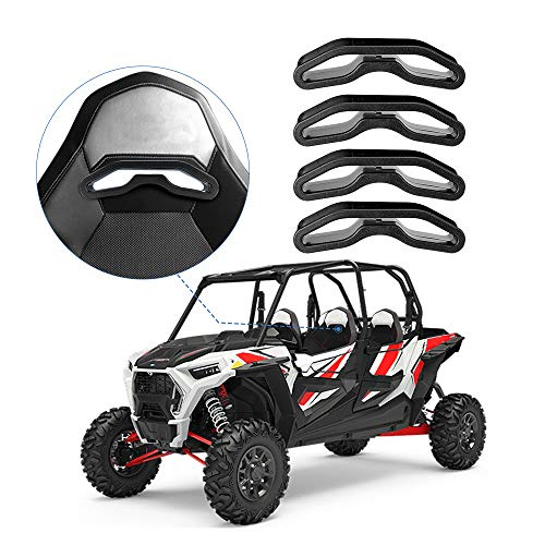 4 Pack UTV Pass Through Bezel, Harness Pass-Through Seat Bezel Insert for Polaris RZR XP1000 900 S XC General (Harness Inserts)