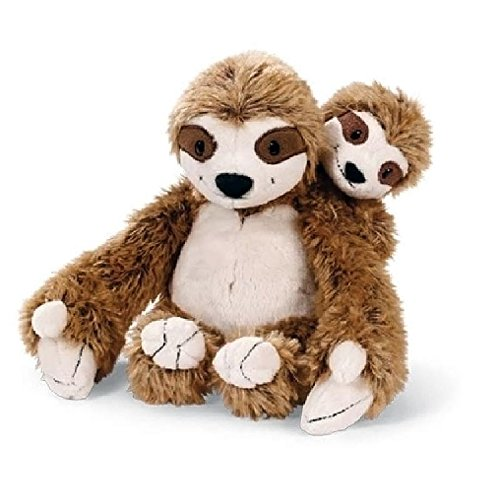 Nici Sloth Mummy And Baby Stuffed Animal Plush Toy 9&Quot;/23Cm -