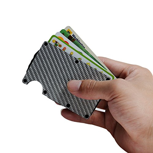 Wallet For Men / Women - Best Carbon Fiber for Minimalist and Travel with RFID Blocking / Credit Card Holder and Money Clip / Slim for Front Pocket