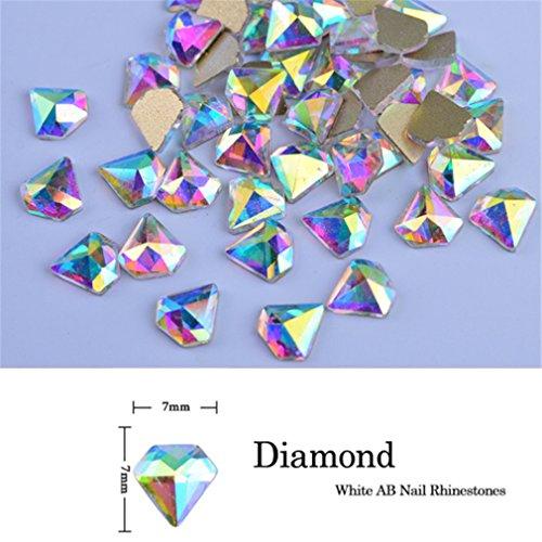 10Pcs Crystal Shiny 3D Nail Art Rhinestones AB Colorful Horse Eye/Waterdrop/Football/Diamond DIY Decor Charms