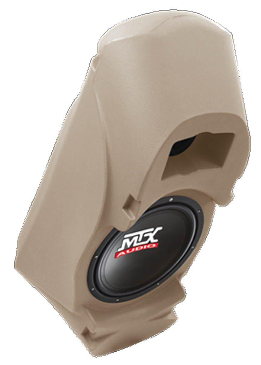 MTX Thunderform Custom Subwoofer Enclosure w 10'' Sub for Chevy & GMC Suburban, Yukon, Full Size Blazer, Tahoe, Reg & Ext Cab Trucks (TAN)
