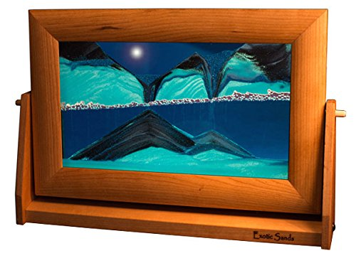Amazing Shifting Sand Pictures - Large Cherry Frame (Ocean Blue) Best Men's Gifts, Corporate Gifts, Family Gifts for all ages! Made in America. Lava Lamp - Lava Lite - Hourglass - Liquid Sand Timer by Exotic Sands (Image #8)