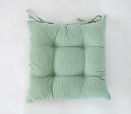 QHQH Cuadrado Cojines para sillas, Cojines para Asientos, tapizados Muebles de jardín para sillas de Comedor o jardín Cojines para decoración del hogar y la Oficina Interior Exterior: Amazon.es: Hogar