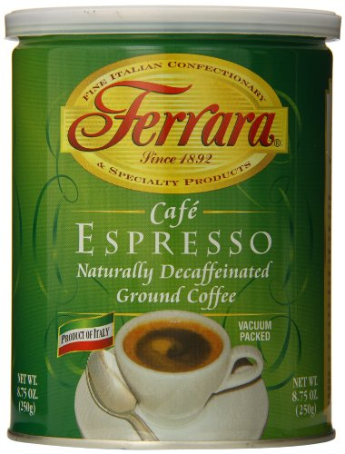 Ferrara Decaf Ground Coffee, Cafe Espresso, 8.75 Ounce For Sale