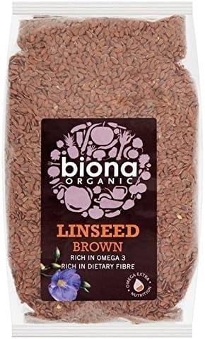 Biona有機アマニ茶色の500グラム - Biona Organic Linseed Brown 500g [並行輸入品]