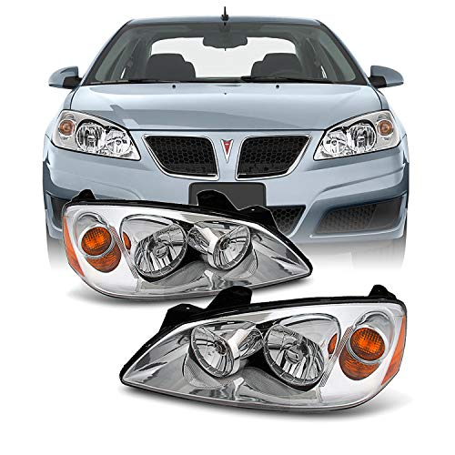For 05-08 Pontiac G6 Amber Chrome Bezel OE Replace