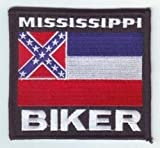 MISSISSIPPI Biker STATE Flag Embroidered Motorcycle MC Club Vest Patch PAT-1213 For Sale