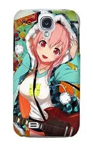 S1576 Super Sonico Mega Cute Rocker Case Cover For Samsung Galaxy S4