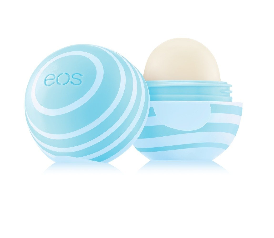 eos Visibly Soft Lip Balm Sphere - Vanilla Mint | Long-lasting Moisture | 0.25 oz.