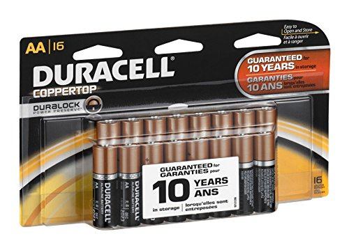 Duracell Alkaline Batteries Aa Card 16