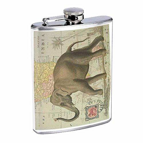 【人気沸騰】 Perfection Inスタイルステンレススチールフラスコ8オンスビンテージポスターd-003 Elephant Elephant Perfection onマップインドのヴィンテージ B016B7GLHQ B016B7GLHQ, ふぁふぁ!:2edbe037 --- domaska.lt