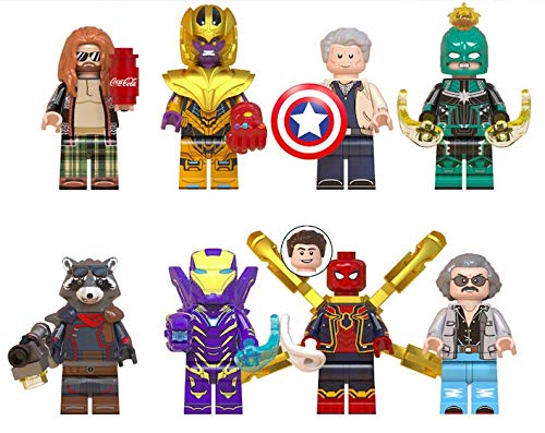Action Building Set - Byno New 8 Super Heroes Action Figures Minifigures Building Blocks Toys with Accessories Avengers for Kids Set