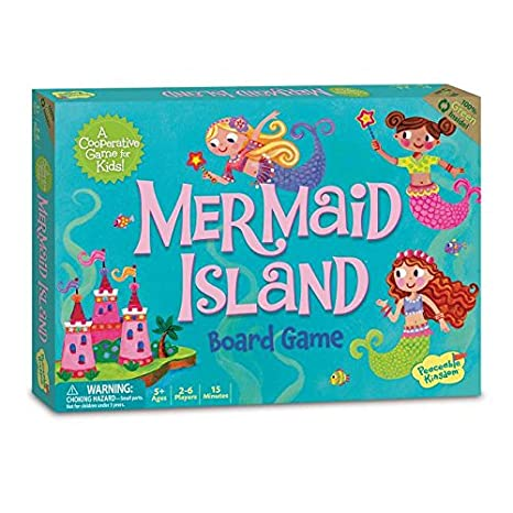 Peaceable Kingdom Mermaid Island Award Winning Cooperative Game of Adventure for Kids