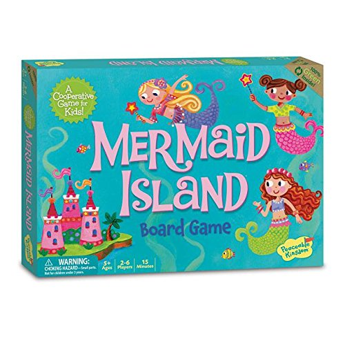 Peaceable Kingdom Mermaid Island Cooperative Board Game