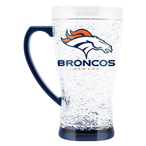 NFL Denver Broncos 16oz Crystal Freezer Flared Mug