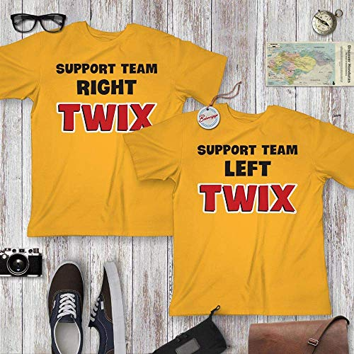 Left-Twix Right-Twix Support Team Chocolate Couple Twin Matching Halloween Costume Customized Handmade Hoodie/Sweater/Long Sleeve/Tank Top/Premium T-shirt