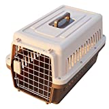 """Paw Essentials 19"""" inch Dog and Cat Pet Carrier and Travel Crate (Coffee)"""