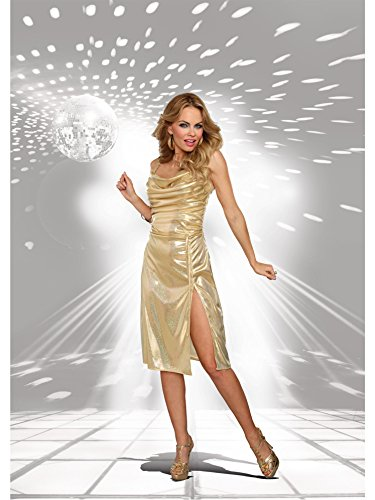 Disco Inferno Costumes (Adult Disco Inferno Sexy Costume, Gold, Large)