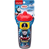 Playtex Sipsters Stage 3 Thomas the Train Spill-Proof, Leak-Proof, Break-Proof Insulated Spout Sippy Cups - 9 Ounce - 1 Count (Color/Theme May Vary)