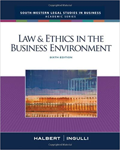 Amazon law ethics in the business environment sixth edition amazon law ethics in the business environment sixth edition 9780324657326 terry halbert elaine ingulli books fandeluxe Images