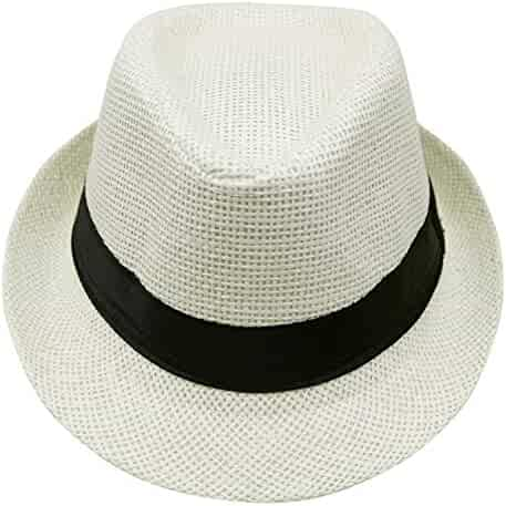 cfa2d1839759b Summer Style Sunhat Beach Trilby Sun hat Straw Panama Hat for boy Girl Fit  for Kids
