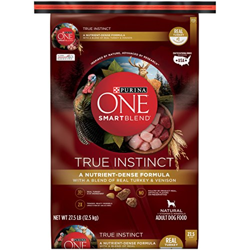 Purina ONE SmartBlend True Instinct with a Blend of Real Turkey & Venison NATURAL Adult Dry Dog Food - (1) 27.5 lb. Bag (1 Dog)