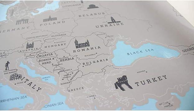 WIVION Mapa para Rascar Scratch Map,Mapa del Mundo De Pared para ...