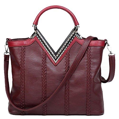 Red bag Red Crossbody Bag Bag C Shoulder Large Leather Crystal Size Soft Bag CHUANG OwPZnBqA